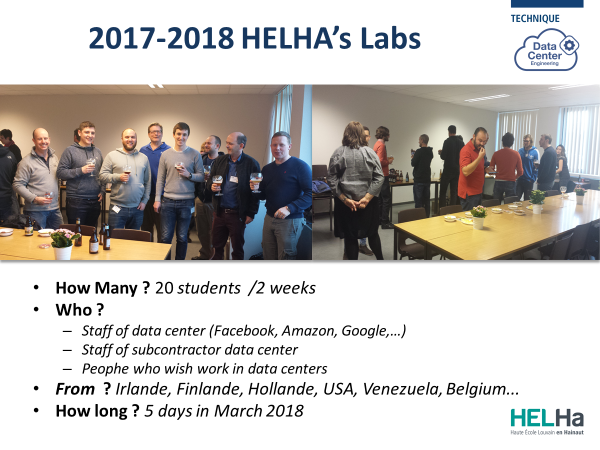 HELHa Data Center Engineering Certification - Lab in 2018 - Results of Feedback - higher education - experience
